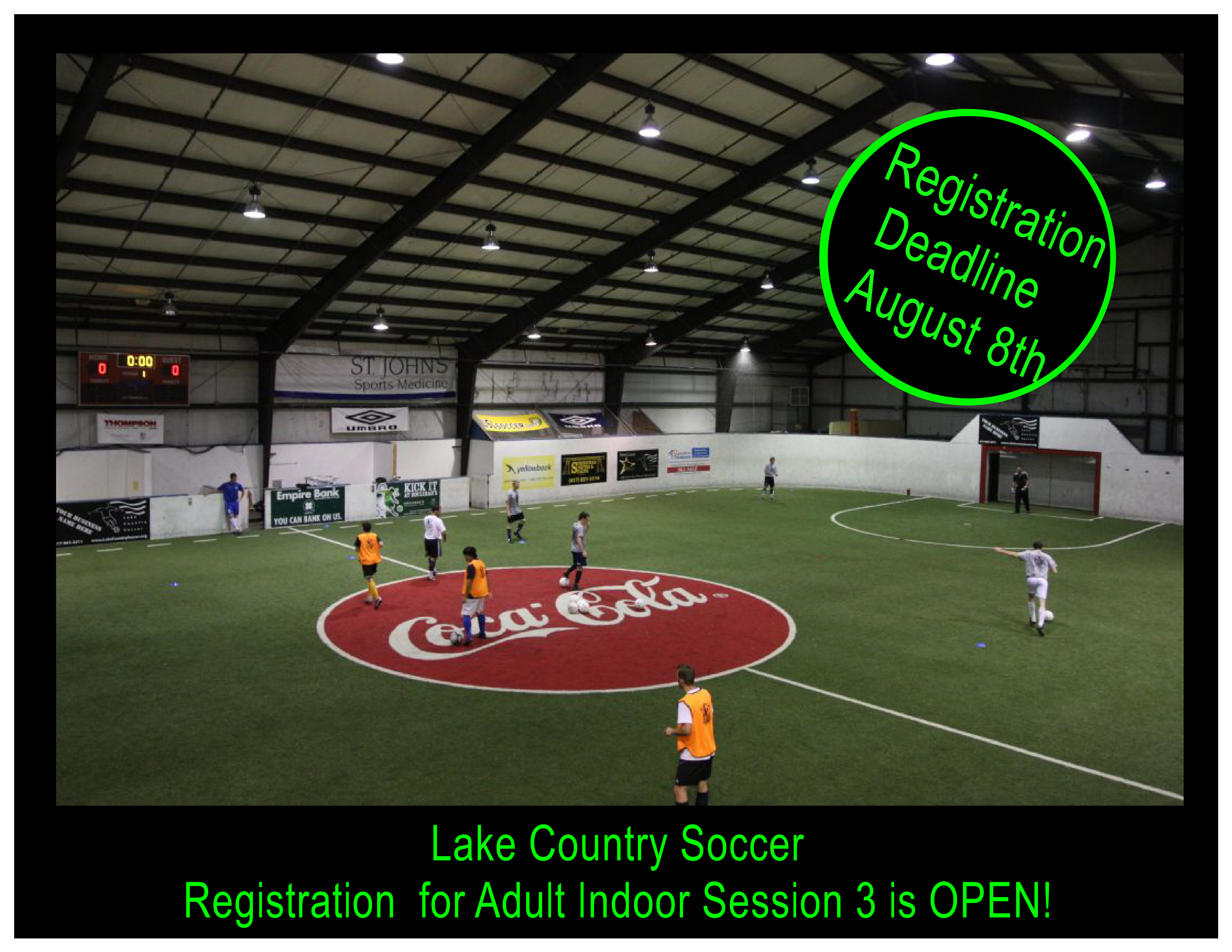 Registration is Open for Adult Indoor Session 3